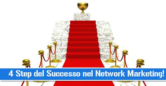 network marketing: quattro step del successo