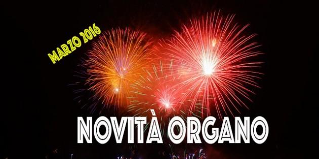 novità organo gold marzo 2016